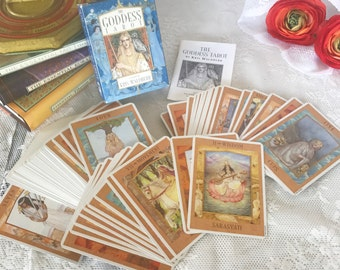 Vintage Goddess Tarot Cards Deck Set, Kris Waldherr Astrology, Fortune telling, Retro, myth fable legend goddess