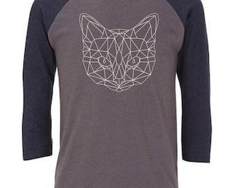 Ninus - Bicycle, Hand-printed Unisex Baseball 3/4 Sleeve T-Shirt S-XL