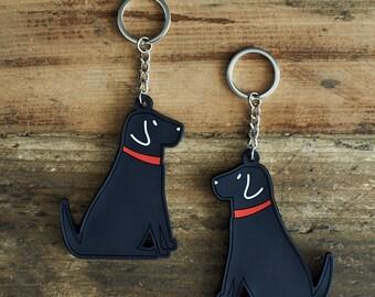 Black Labrador Keyring