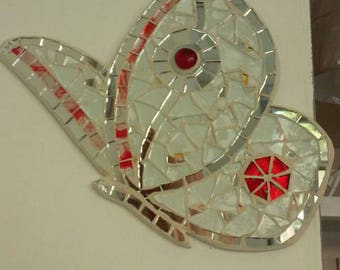 Butterfly mosaic butterfly papillon Lucky Charm fable