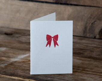 Red Ribbon Letterpress Card | Howl Paper Studio