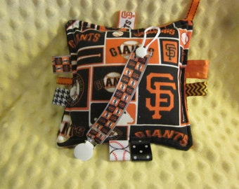SF Giants, Baby boy, baby girl, 2pc set w/paci keeper, universal keeper, minky or fleece back
