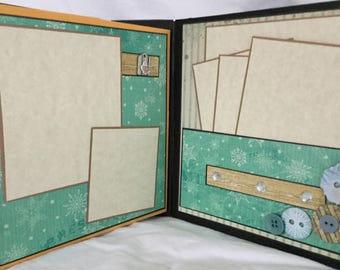 Scrapbook Album, Junk Journal, Blank Scrapbook, Photo Album by Island Lily Designs