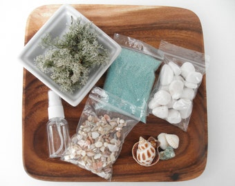 DIY - Just Beachy - Beach Themed Terrarium Kit - Use your own container