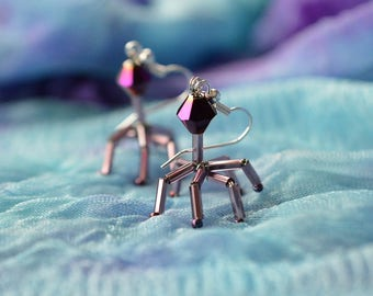 Biolojewelry -Bacteriophage Virus Biology Science Earrings