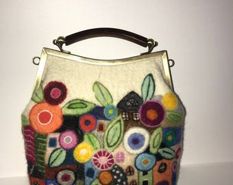Handmade Felted Wool Handbag
