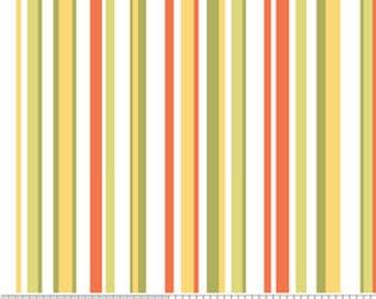 Decadence by Riley Blake, Stripe in Orange - 1 Yard - Reduced