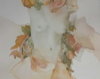 """Emergence Series """" Boticelli's Whisper""""  One of a Kind Original Watercolor"""