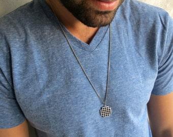 Men's Necklace - Men Silver Necklace - Men's Jewelry - Men's Gift - Men Jewelry - Men Necklace - Boyfriend Gift - Guys Necklace - Guys Gift