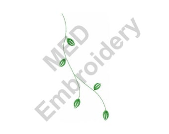 Vine -  Machine Embroidery Design, Leafy Vine