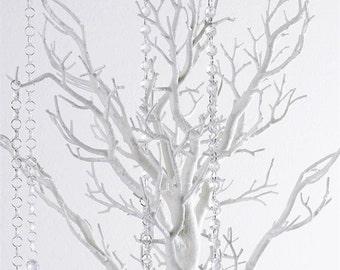 Wedding Wishing Tree Centerpiece White 30 in Free Crystals
