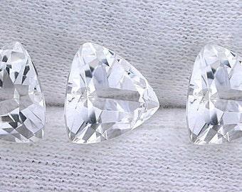 10mm trillion triangle trilliant natural white topaz gem stone gemstone natural ebs622