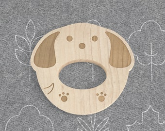 Doxie Natural Wooden Teether