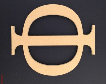 "12"" or 16"" Sorority Greek unfinished wooden letter 1/2"" thick ready to paint. Made in USA. 6-16"