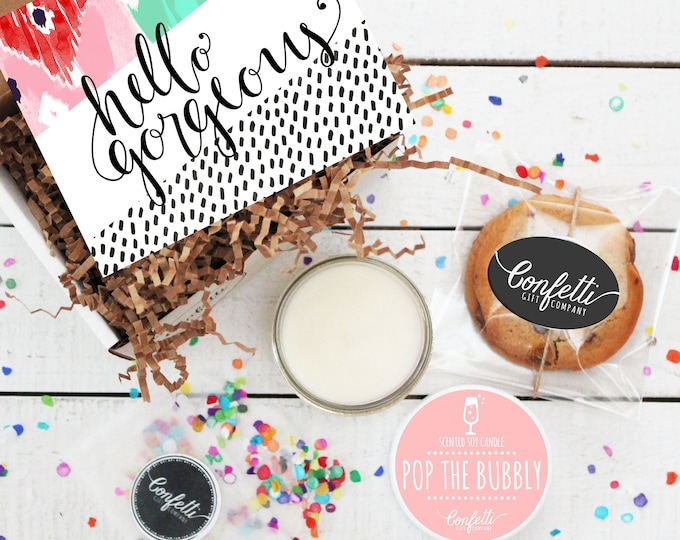 Mini Hello Gorgeous Gift Box - Thinking of You Gift | Thank You Gift | Friend Gift | Get Well Gift | Best Friend Gift |Gift For Her