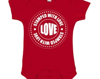 Stamped With Love Onesie/Tee