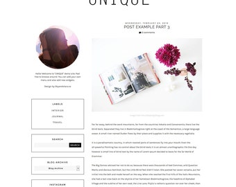 Feminine Premade Blogger Templates and Wordpress by SkyandStars