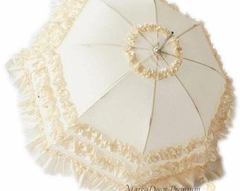 READY TO SHIP Medium Wedding Parasol Bridal Umbrella with Multi Layers of Gorgeous Fabric 1pc