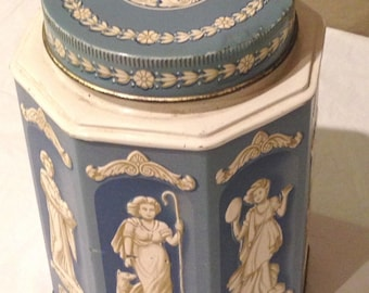 Vintage Holland Toffee Candy MADE IN ENGLAND Greek Goddess Tin