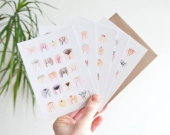 5 Postcard Set • The Vulva Gallery