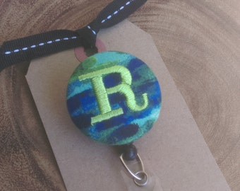 Monogram Badge Reel - Badge Holder, Retractable ID