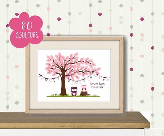 arbre empreintes pour naissance bapt me baby shower. Black Bedroom Furniture Sets. Home Design Ideas