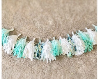 Multicolor tissue tassel garland