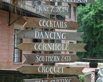 Rustic Wedding Direction Sign