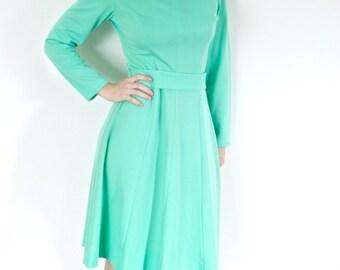 Vintage Mint Dress 1970s Polyester