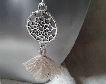 "Earrings ""dream catcher and Brown tassel"""