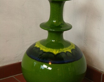 west german pottery lamp base by Hutschenreuther