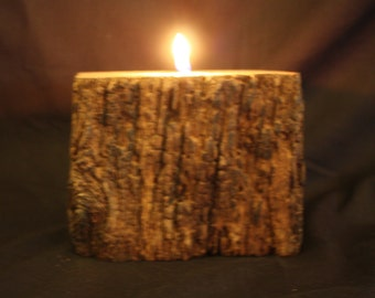 Single Rustic Tea light Holder (a)
