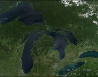 Poster, Many Sizes Available; Great Lakes
