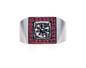 18k white gold white sapphire and ruby ring jefe