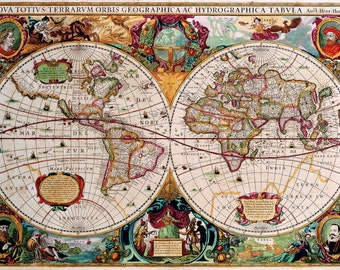 Map, Old world map, Historical maps, Antique world map, 140