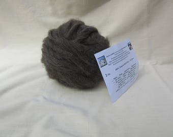 2 oz. Med Rose Grey Alpaca Roving -  for Spinning, Nuno Felting or Needlefelting