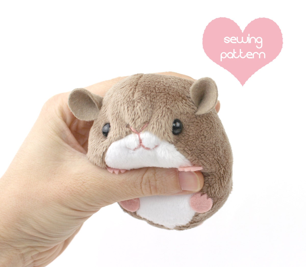 Pdf sewing pattern plush hamster mouse rat guinea pig rodent zoom jeuxipadfo Image collections