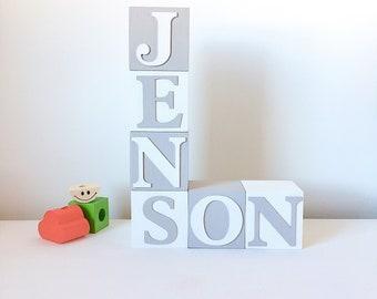 Large Custom Baby Name Baby Blocks, Baby Name Blocks Baby Shower, Baby Name Blocks For Nursery, Personalised Boys Nursery Baby Shower Gift