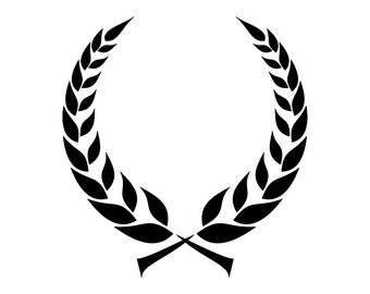 laurel wreath svg wreath svg laurel svg floral wreath svg files laurel wreath leaf wreath svg wreath clipart silhouette DXF PNG  JPEG