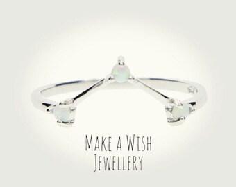 Silver Opal Ring * 925 * boho