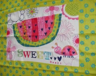 "Fleece panel 48"" x 60"" new 100% polyester blizzard Sweet Watermelon"