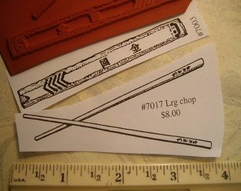chop sticks, wrapper lrg  rubber stamp un-mounted scrapbooking rubber stamping