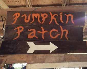 Pumpkin Patch Barn Wood Sign - wood, wall decor, seasonal