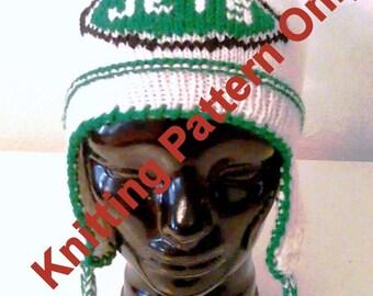 Knitting Pattern Jets Ear Flap Hat