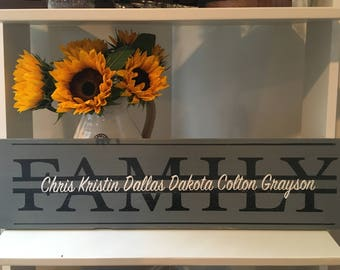 Custom Family Name Sign, Wood sign, Home Decor, Wedding Gifts, Anniversary Gifts, Custom Gifts
