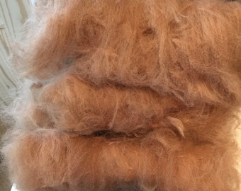 Alpaca hand carded wool