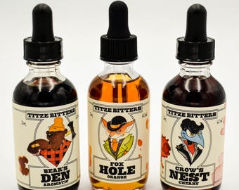 Titze Bitters Animal Pack - Cocktail Bitters