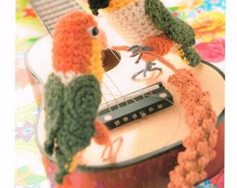 Tame Budgie Amigurumi Doll Pattern - Japanese Crochet Pattern Book, Inko Kotoriyama, Easy Crochet Parakeet Tutorial, Bird Amigurumi,  B1549