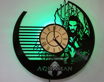Aquaman art decor, Aquaman wall clock, Aquaman Green led night light, Aquaman led lighting, Aquaman led lights