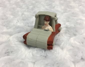Wilma Flintstones Character Movie Small McDonalds Happy Meal Toy Car Vtg 1993